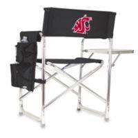 Picnic Time® Washington State Collegiate Folding Sports Chair in Black