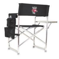 Picnic Time® University of Wisconsin Collegiate Folding Sports Chair in Black