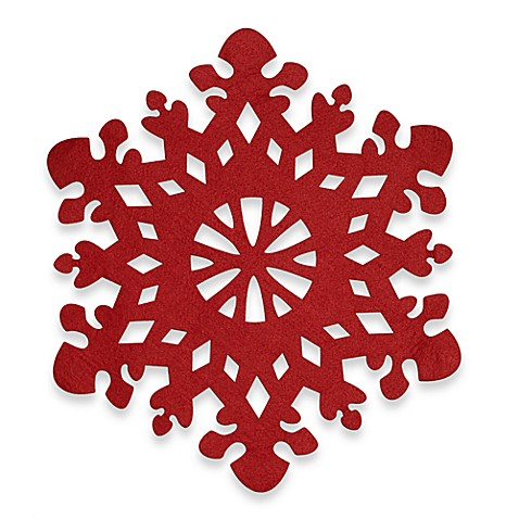 Snowflake Felt Placemat Bed Bath Amp Beyond