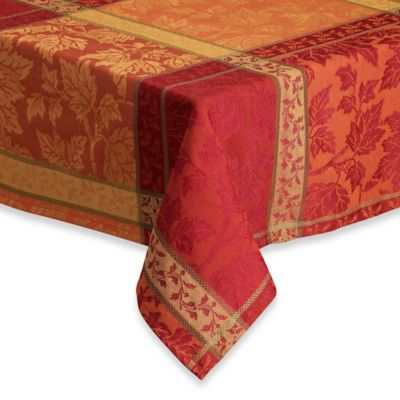 Buy Harvest Gold Round Tablecloth From Bed Bath Amp Beyond