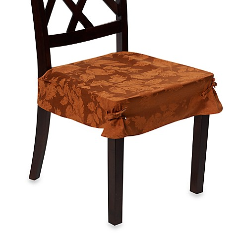 Autumn Harvest Dining Room Seat Covers (Set of 2) - Bronze