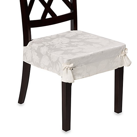 Autumn Harvest Dining Room Seat Covers (Set of 2) - Ivory