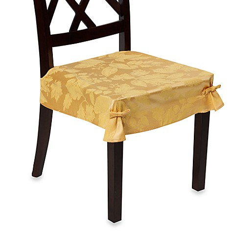 Autumn Harvest Dining Room Seat Covers Set Of 2 Wheat