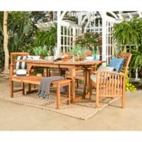Forest Gate Eagleton Pation 6-Piece Light Acacia Wood Dining Set with Beige Cushions