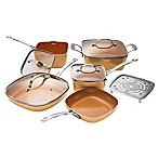 Gotham™ Steel Nonstick 10-Piece Square Copper Cookware Set