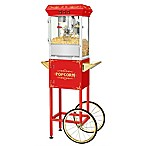 Superior Popcorn Company Popcorn Machine with Cart in Red