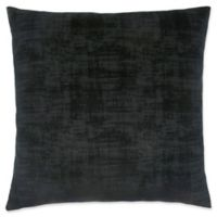 Monarch Specialties Brushed Velvet Square Decorative Pillow in Black