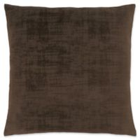 Monarch Specialties Brushed Velvet Square Decorative Pillow in Brown