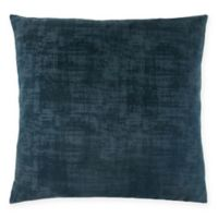 Monarch Specialties Brushed Velvet Square Decorative Pillow in Blue