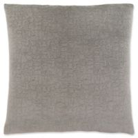 Monarch Specialties Mosaic Velvet Square Decorative Pillow in Grey