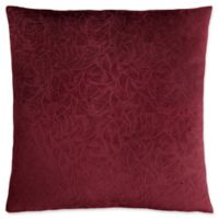 Monarch Specialties Floral Velvet Square Decorative Pillow in Dark Red