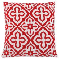 Monarch Specialties Motif Square Decorative Pillow in Red