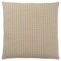 Monarch Specialties Abstract Dot Square Decorative Pillow in Gold and Grey