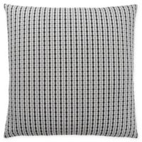 Monarch Specialties Abstract Dot Square Decorative Pillow in Black and Light Grey
