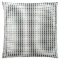 Monarch Specialties Abstract Dot Square Decorative Pillow in Blue and Grey
