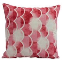 E by Design Nantucket Zircoland Nautical Square Throw Pillow in Red