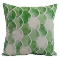 E by Design Nantucket Zircoland Nautical Square Throw Pillow in Green