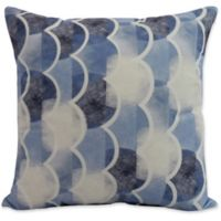 E by Design Nantucket Zircoland Nautical Square Throw Pillow in Blue