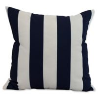 E by Design Nantucket Rugby Stripe Square Throw Pillow in Navy