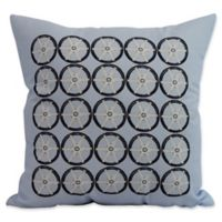 E by Design Nantucket Nautical Geomteric Square Throw Pillow in Blue