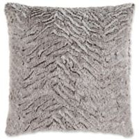 Surya Felina Square Throw Pillow in Grey/White