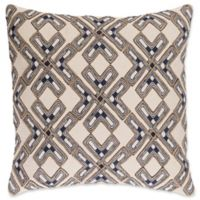 Surya Subira Bohemian Square Throw Pillow in Ivory/Navy