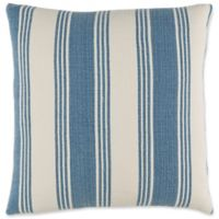 Surya Anchor Bay Striped Square Throw Pillow in Navy/White