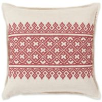 Surya Pentas Bohemian Square Throw Pillow in Red/Khaki
