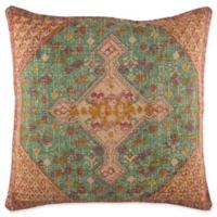 Surya Shadi Vintage Square Throw Pillow in Khaki/Orange