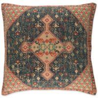 Surya Shadi Vintage Square Throw Pillow in Khaki/Navy