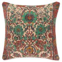 Surya Shadi Vintage Square Throw Pillow in Khaki/Pink