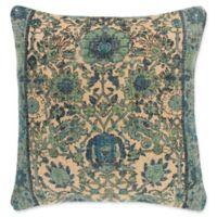 Surya Shadi Vintage Square Throw Pillow in Khaki/Black