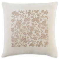 Surya Smithsonian Floral Square Throw Pillow in Khaki/Brown
