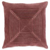 Surya Akira Textural Square Throw Pillow in Brown