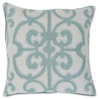 Surya Amelia Square Decorative Pillow in Denim and Grey