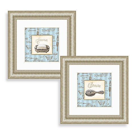 Savon wall art set of 2 bed bath beyond for Abstract salon tucson