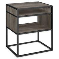 "Forest Gate 20"" Elm Industrial Modern Wood Side Table in Grey Wash"