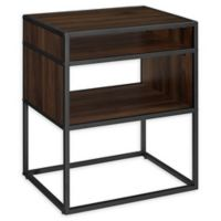 "Forest Gate 20"" Elm Industrial Modern Wood Side Table in Dark Walnut"