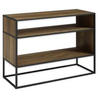 Forest Gate 40-Inch Metal and Wood Storage Console in Rustic Oak