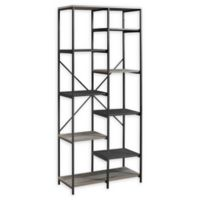 "Forest Gate 68"" Brownlow Industrial Modern Bookcase in Grey Wash"