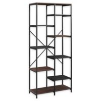 "Forest Gate 68"" Brownlow Industrial Modern Bookcase in Dark Walnut"