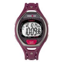 Timex® Ironman Unisex 37mm Sleek 50 Watch with Magenta Resin Strap