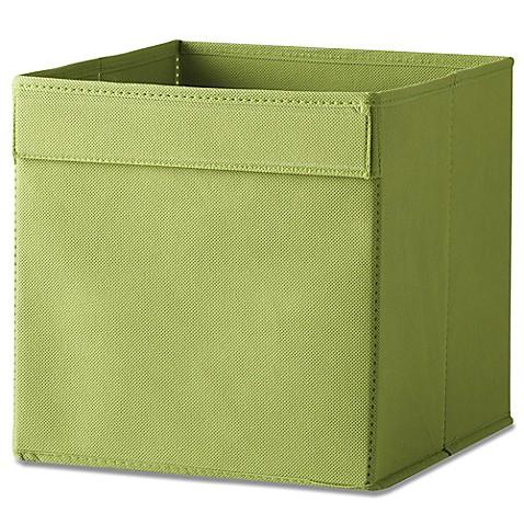 Real simple fabric bin in green bed bath beyond for Green bathroom bin