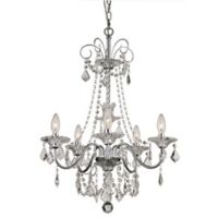 Bel Air Lighting Niagara 5-Light French Country Chandelier in Polished Chrome