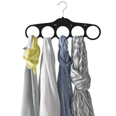 Real Simple® Slimline Scarf And Belt Hangers In Black (Set Of 2)