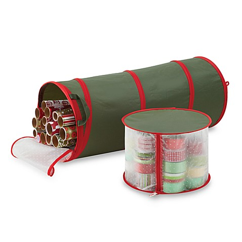 Real Simple 174 Pop Up Gift Wrap Amp Ribbon Organizer Bed
