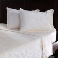 Berkshire VelvetLoft® Embossed Feather Queen Sheet Set in Cream