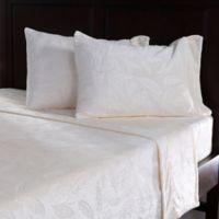 Berkshire VelvetLoft® Embossed Feather Queen Sheet Set in Cream