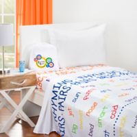 Learning Linens ABC's 300-Thread-Count Twin Sheet Set