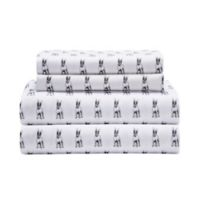 Bulldog Microfiber King Sheet Set in White